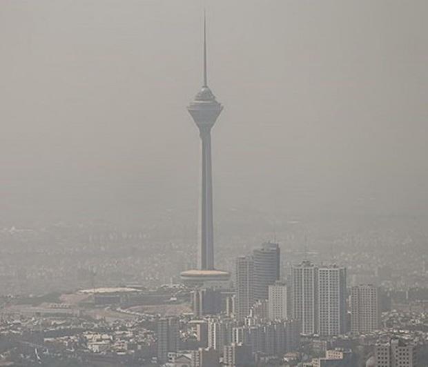 هوای تهران غبار آلود می شود