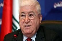 رئیسجمهور عراق: ایران حقیقتاً نخستین کشوری است که در جنگ با داعش به عراق کمک کرد /در دوره «اوباما» بین ایران و آمریکا میانجیگری کردیم
