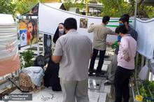 کتاب«لبخندی به معبر آسمان» بر سر مزار شهید دین شعاری رونمایی شد + تصاویر