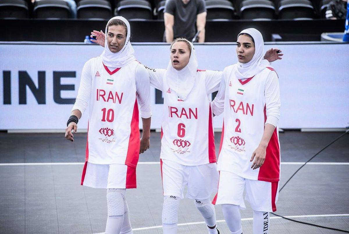 جایگاه نوزدهمی تیم بسکتبال سه نفره بانوان در میان ۲۰ تیم