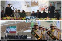 رژه نیروهای مسلح خراسان شمالی برگزار شد