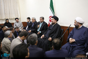 دیدار دبیر کل و اعضای حزب مردم سالاری با سید حسن خمینی