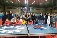 مسابقات تنیس روی میز بانوان قزوین به پایان رسید