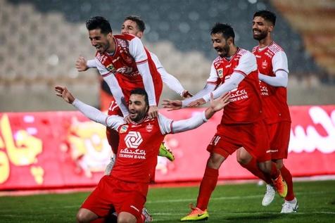شادی سیامک نعمتی برای نخستین گل پرسپولیس در لیگ بیستم