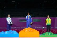 کسب مدال طلای تکواندوکار گیلانی در مسابقات جهانی چینتایپه