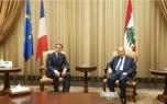 دیدار رییس جمهور فرانسه با رهبران سیاسی لبنان