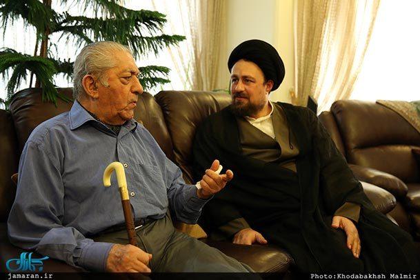 فیلم/ دیدار سید حسن خمینی با استاد عزت الله انتظامی