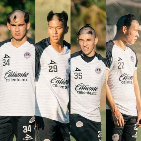 مدل موهای عجیب بازیکنان در یک تیم مکزیکی+ عکس