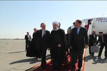 رئیس جمهور روحانی وارد تهران شد