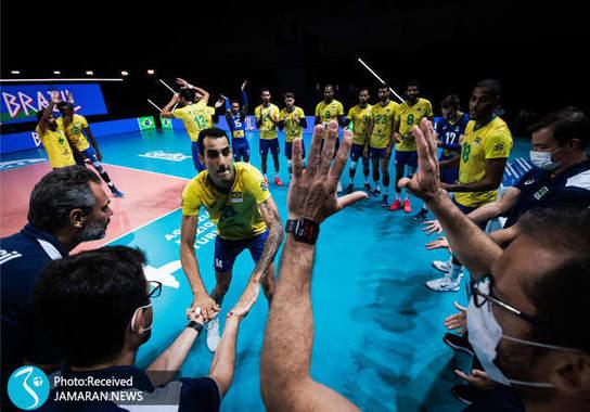 لیگ ملت های والیبال 2021- والیبال ایران و برزیل
