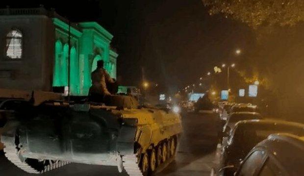جریان استقرار گسترده زره پوش های ارتش عراق در بغداد چیست؟