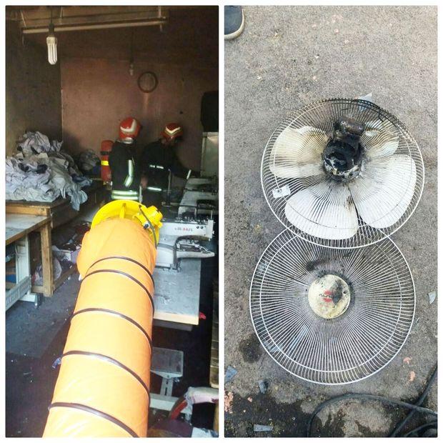 آتشسوزی مغازه خیاطی در تبریز