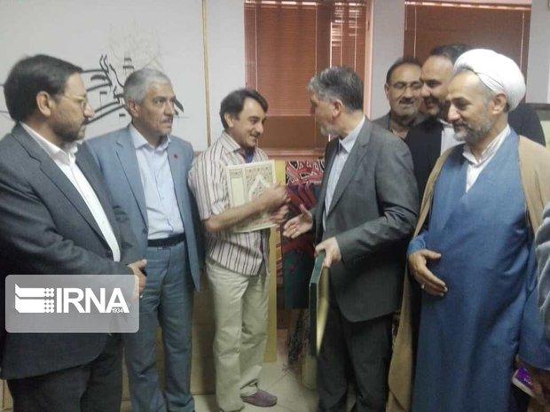 وزیر فرهنگ و ارشاد اسلامی با هنرمند سفال و سرامیک سمنان دیدار کرد