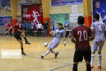 تیم ارژن شیراز در لیگ برتر فوتسال مقابل گیتی پسند اصفهان شکست خورد