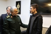 آرین غلامی: زیباترین مدال زندگیام را از سردار سلیمانی گرفتم/ عکس