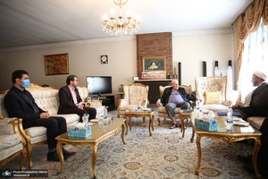 دیدار سرپرست موسسه تنظیم و نشر آثار امام خمینی(س) با سفیر فلسطین در تهران/ صلاح زواوی