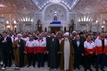 تجدید میثاق اعضای جمعیت هلال احمر با آرمانهای حضرت امام(س)