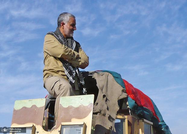 قطع سخنرانی سردار سلیمانی بدلیل عوارض جانبازی شیمیایی در دوران دفاع مقدس