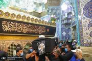 پیکر آیت الله صانعی در حرم حضرت معصومه(س) طواف داده شد +عکس