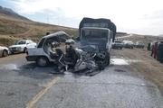 تصادف در جاده گچساران به شیراز پنج کشته برجای گذاشت