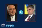 گفت و گوی تلفنی ظریف و وزیر خارجه اوکراین در مورد  آخرین وضعیت سانحه هوایی