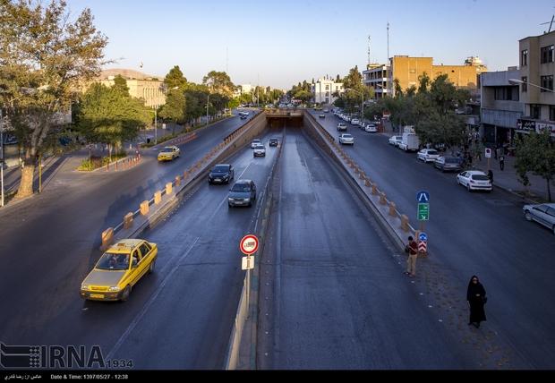علائم ترافیکی شهر شیراز به حالت عادی بازگشت