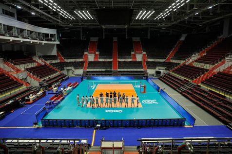 اولین جلسه تمرین تیم ملی والیبال در روسیه با حضور سردار آزمون + عکس
