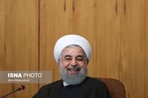 خنده رئیس جمهور در اولین جلسه هیات دولت بعد از انتخابات+عکس