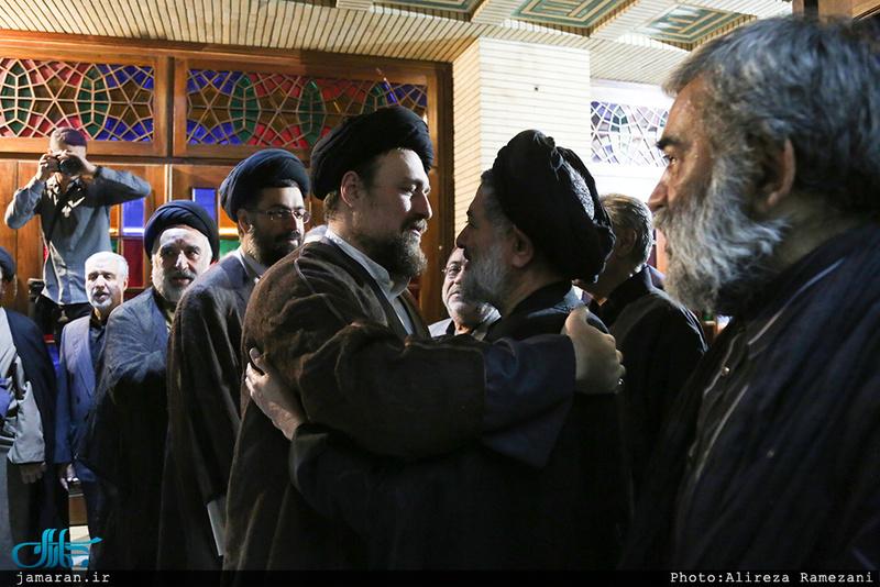 مراسم ختم مادر حجت الاسلام و المسلمین محتشمی پور در مسجد نور