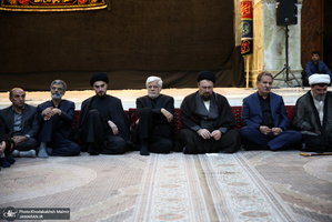 مراسم عزاداری شب تاسوعای حسینی(ع) حرم امام خمینی(س)