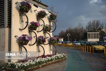 نصب المانهای نوروزی در مناطق مختلف تبریز منطبق با هویت شهری  کاشت اطلسیهای ایرانی در پارک ائلگلی