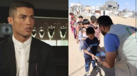 کمک 1.5 میلیون یورویی رونالدو برای تهیه افطاری به مردم فلسطین