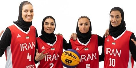 شکست سنگین تیم بسکتبال سه نفره بانوان ایران مقابل ژاپن