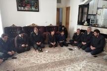 رئیس پلیس پیشگیری ناجا با خانواده شهید جابر بیرانوند دیدار کرد