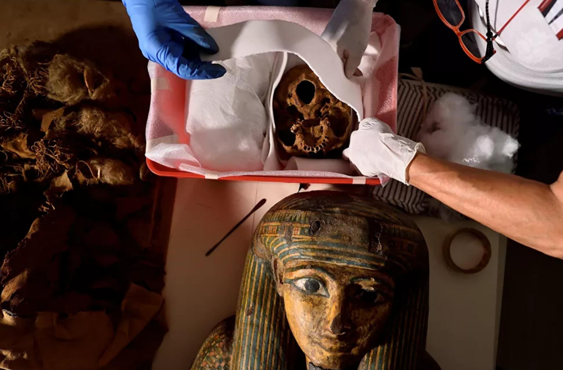 معاینه مومیایی مصری که ممکن است به درمان بیماریهای بدخیم کمک کند////بماند