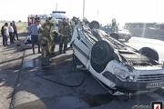 خودروی زانتیا با تیربرق در اتوبان تصادف کرد! / عکس