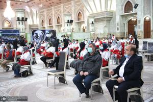 دیدار رئیس و اعضای جمعیت هلالاحمر  با سید حسن خمینی