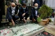 قالیباف در سال جدید بر سر مزار سردار سلیمانی حاضر شد + عکس