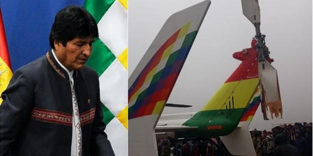 عکس/ سانحه برای هواپیمای حامل مورالس