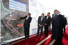 افتتاح قطعات 2 و 3 آزاد راه شهید همت – کرج با حضور رییس جمهور