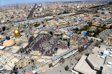 تصاویر زیبای هوایی از شهر مقدس قم