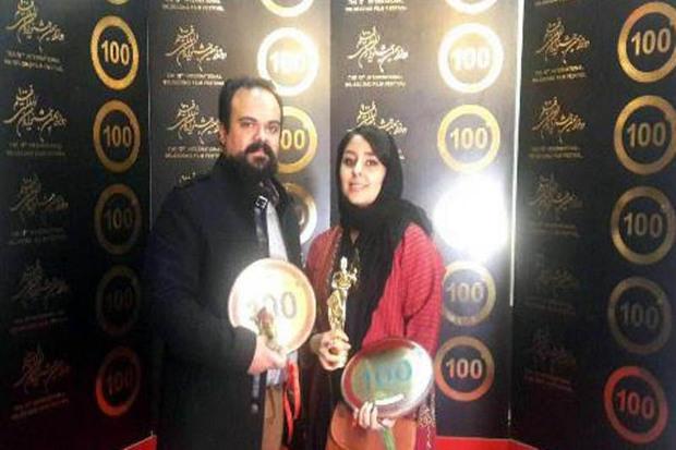 هنرمندان زنجانی در جشنواره بینالمللی فیلم 100 درخشیدند