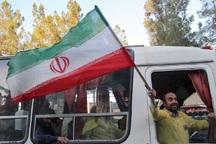 کاروان نمادین آزادگان در بیرجند خاطره ها را زنده کرد