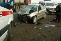 8 مصدوم در تصادف رانندگی محور ساوه به سلفچکان
