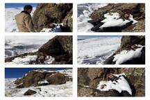 کشف جسد یخ زده دختر جوان کرجی در کوههای دروان + تصاویر