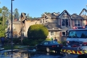 سقوط بالگرد در منطقه مسکونی در آمریکا + عکس