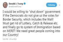 ترامپ تهدید به تعطیلی دولت آمریکا کرد