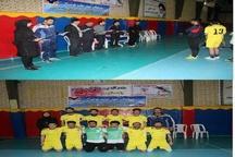 تیم فوتسال موسسه آموزش عالی اوج آبیک قهرمان شد