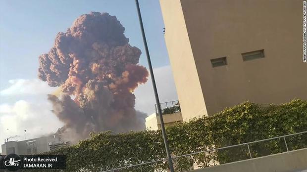 آتش سوزی در بندر بیروت + فیلم