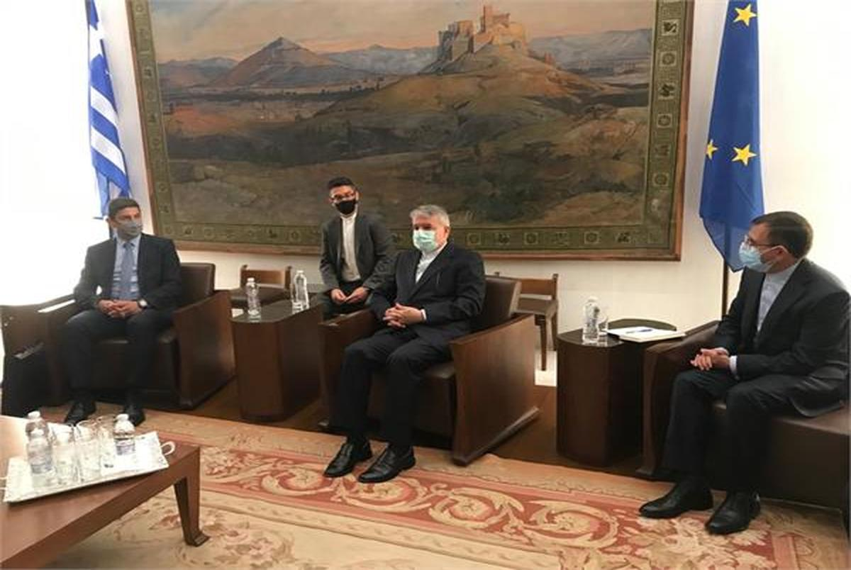 دیدار صالحی امیری با معاون وزیر فرهنگ، آموزش و ورزش یونان
